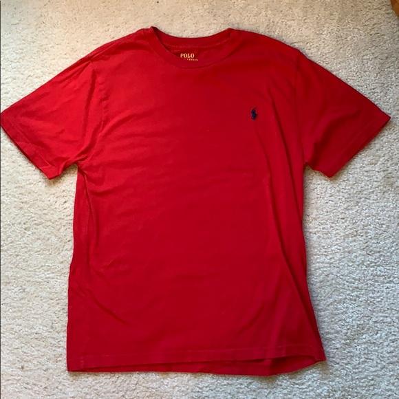 Boys Large polo shirt sleeve t-shirt (Like new)